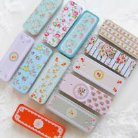 1 Pcs Mini Tin Metal Container Small Rectangle Lovely Storage Box/Case Pattern