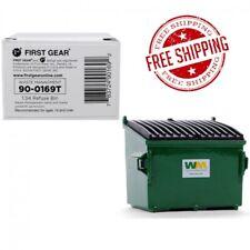 Refuse Trash Bin Waste Management Green 1/34 Diecast Model by First Gear