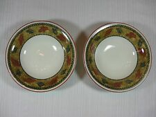 Staffordshire Tableware Savannah Cereal or Soup Bowl Light Brown Rim Leaves