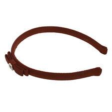 Authentic Salvatore Ferragamo Vara Bow Headband Hair Accessory Brown M11808