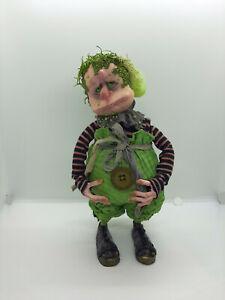 Mossy Troll HM Fantasy OOAK Art Doll Polymer Clay Fabrics