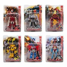 6 Box Transformers Optimus Bumblebee Megatron Powerglide Rodimus Starscream Toy