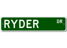 RYDER Street Sign - Personalized Last Name Sign