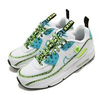 Nike Air Max 90 SE 2 GS White Blue Volt WorldWide Kid Women Shoes CV7665-100