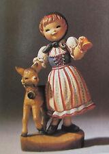 "Anri Juan Ferrandiz ""Swiss Girl"" 6"" Wood Carved Nib #651663 Kh"