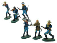 BRITAINS SUPER DEETAIL 7th Cavalry Custer 6 Painted Plastic Figures FREE SHIP