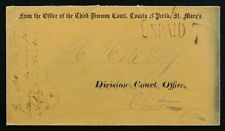 St Mary's 1866 Perth County Court pre-printed stationery envelope to Clinton