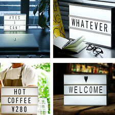 DIY A6 Cinematic Cinema Message Board Party Light Up Letter Box Sign Lightbox