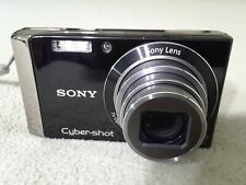 Sony CyberShot DSC-W370 14.1MP 7X Zoom Digital Camera, Black/Silver. Tested