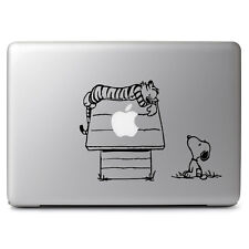 """Calvin Hobbes Snoopy House for MacBook Air/pro 13 15 17"""" Laptop Decal Sticker"""