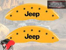 "2008-2019 ""Jeep"" Compass Front Yellow MGP Brake Disc Caliper Covers 2p Set"