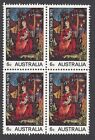 1970 Australia Christmas 6c block of 4 stamps - MNH