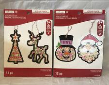 Lot Of 2 Creatology Christmas Suncatcher ornament kits