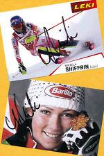 Mikaela shiffrin - 2 top autógrafo imágenes (12) - Print copies + ski ak firmado