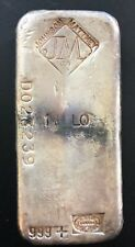 1 KILO Silver Vintage Johnson Matthey, Canada Poured 999+ Silver Bar #D023239