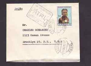 Portugal Angola 1963 airmail cover to the USA with slogan cancel