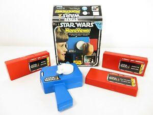 NICE! Kenner STAR WARS MOVIE VIEWER W/ ORIGINAL BOX & CASSETTES Vintage Toy NR
