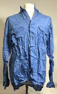 Mondo di Marco Men's Button Up Shirt, Blue Color - Size XL