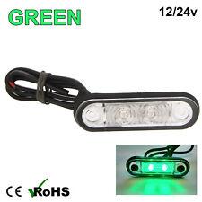 GREEN HELLA STYLE LED FLUSH FIT KELSA BAR MARKER LAMP LIGHT 12v 24v