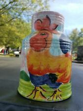 Large Bellini Piu Pottery Ceramic Hand Painted Vase Made In Italy