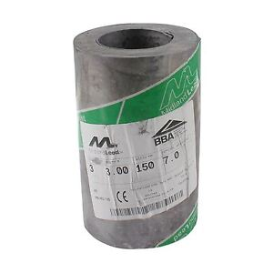 """150mm 6"""" inch Code 3 Lead Flashing Roll Roof Roofing Repair Midland Lead"""