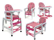 Baby Kombi Hochstuhl - 5 IN 1- Pink Farben (D)