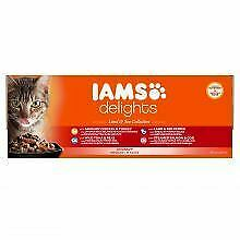 Iams Delights Land & Sea Collection in Gravy 48 Pouches 48 x - 85g - 216235