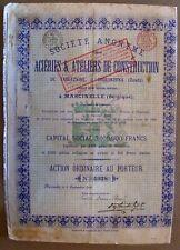 Russian bond Steel Mills & Construction Workshops of Tareckoe & Druzhkovka 1898