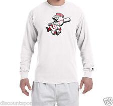 Cincinnati Reds Mr. Red Logo Champion Long Sleeve T Shirt Mens New Tee