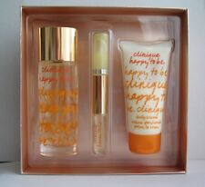 Happy To Be Clinique Parfum Spray 50 ml Body Cream 75 ml Roll-on Perfume 4.5 ml