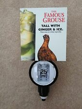 FAMOUS GROUSE TALL WITH GINGER ICE SCOTLANDS FAVOURITE WHISKY SPIRIT 25ML OPTIC