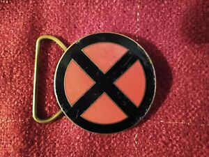 Vintage 1992 Marvel Comics X Men Brass and Copper Planet Studios Belt Buckle