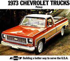 1973 CHEVY PICKUP TRUCK BROCHURE -C10-K10 4X4-C20-K20 4X4-C30-SUPER CHEYENNE