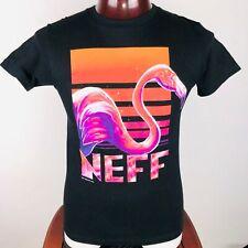 Neff Flamingo Art Vintage Mens S Graphic T Shirt
