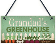 Grandad's Greenhouse Plaque Garden Shed SummerHouse Sign Dad Fathers Day Gift