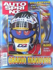 AUTOSPRINT n°15 1998 Jacques Villeneuve attacca Williams - Mc Laren Mp4-13 [P72]