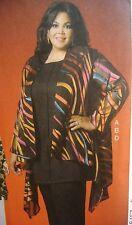 Plus Size Womens Pattern Dress Top Jacket Pants 18W 20W 22W 24W McCalls 7029 NEW