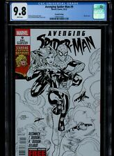 Avenging Spider-man #9 Rare 2nd print sketch CGC 9.8,  1 of 7 in census!!