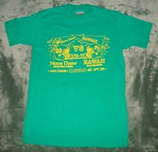 VTG 1991 NOTRE DAME VS HAWAII T SHIRT MEDIUM RAINBOWS FIGHTING IRISH 90s FOOTBAL