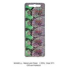Maxell 371 SR920SW SR920 Silver Oxide Watch Batteries (35Pcs)