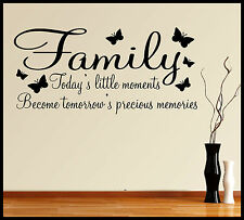 FAMILY WALL ART STICKER QUOTE INSPIRATIONAL WORDS PHRASES SAYINGS HOME DECOR DIY