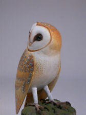 "5-1/2"" Barn Owl Original Wood Bird Carving/Birdhug"
