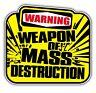 weapon of mass destruction sticker rat look 100 x 85mm