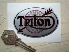 Triton Estilo Flecha Oval Casco Moto O Adhesivo