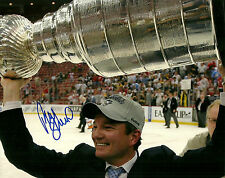 Ray Shero Hand Signed Stanley Cup 8x10 Photo Pittsburgh Penguins NHL Autograph