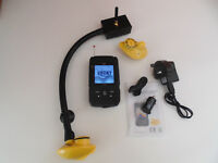 Wireless Bait boat fish finder. 200m range, all boats, 2 sensors, Carp, features