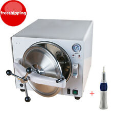 18L Medical Dental Steam Autoclave Sterilizer Lab Sterilizer Machine + Handpiece