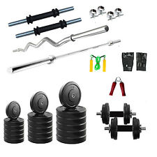 Fitfly  Home Gym Set 24kg Weight 3ft Curl 4ft Plain rod all Accessories