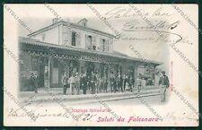 Ancona Falconara Alterocca 1658 Stazione Carabinieri PIEGHINE cartolina QQ1136