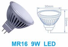 Faretto LED MR16,luce bianca,9W=90W,bianco freddo,caldo,lampadina,MR 16,opaco